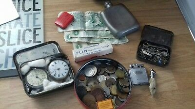 joblot old coins and bit and bobs silver