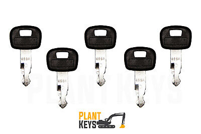 Kubota 459A (Set of 5) Excavator Keys Ignition Parts Mini Equipment Loader Track