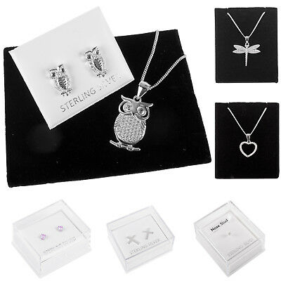 Brand New Sterling Silver Ladies Jewellery, Necklaces, Earrings And Pendants