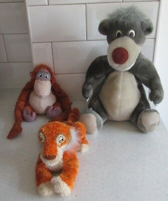 Jungle Book Disney Shere Khan Baloo  King Louie Plush Soft Toys