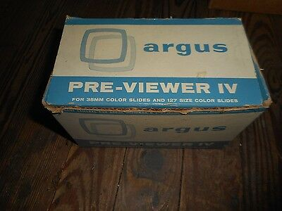 Vintage Argus Pre-Viewer IV for 35MM Color Slides In Orginial Box
