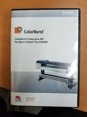Colorburst 9.3.8 RIP with dongle for Epson GS6000