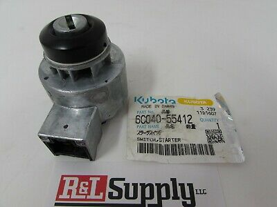 New Genuine Kubota Ignition Switch Part # 6C040-55412