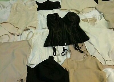 Lot of 23 Panty Girdles, Bullet Bra's, Spanx & More, Vintage to Current Designs!