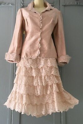 Mother of the bride outfit Paule Vassereur Jacket And Matching Skirt  Size 14