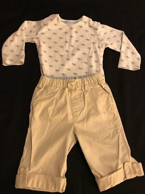 Janie and Jack Baby Boy Top/Pants  6-12