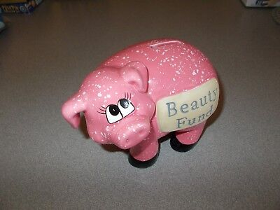 J & D Designs 79009 whimsical classic piggy coin bank ceramic Beauty Fund