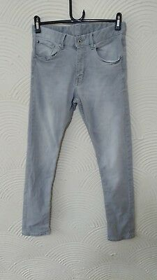 Boys H&m Grey Skiinny Fit Jeans  Age 12-13Yrs Excellent Condition ##g2