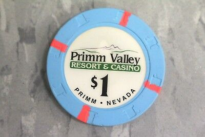 Paulson $1 Primm Valley Resort & Casino , Primm , Nevada Poker Chips.*Very Rare*