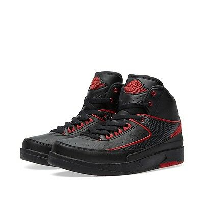 Nike Air Jordan Retro 2 II Alternate BG GS SZ 5Y Black Varsity Red 834276-001