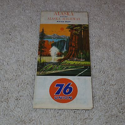 Vintage 1964 - Union 76 - Alaska and the Alaska Highway Road Map - Used/GC