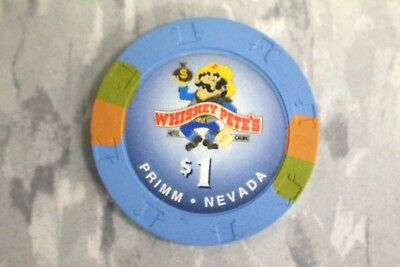 Paulson $1 Whiskey Pete's Hotel , Casino , Primm . Nevada , Poker Chips ** Rare*