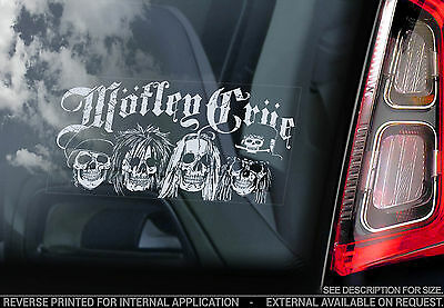 Motley Crue - Car Window Sticker - Rock Dr Feel Good Vinyl Decal Sign -V01