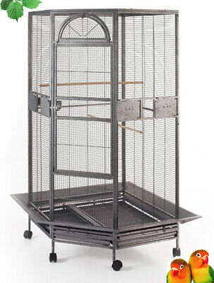 NEW Large Parrot Escape Jumbo Corner Bird Cage Aviary Around Seed Skirt 159