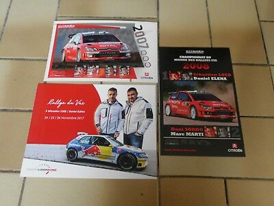 lot 3 carte rallye du var Peugeot 306 maxi Loeb post card cartolina wrc