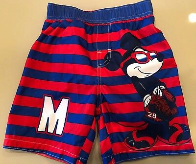Mickey Mouse Toddler Boys Swim Trunks UPF 50+ UV Protection By Disney 4T NWT !