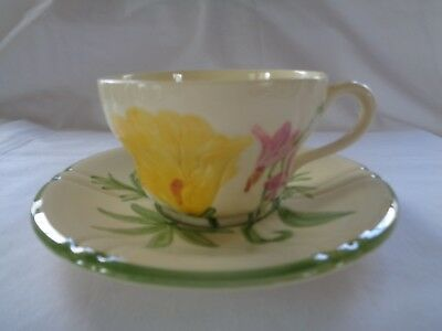 VTG  Franciscan 1940's WILDFLOWER Cup and Saucer Setl!  Excellent!