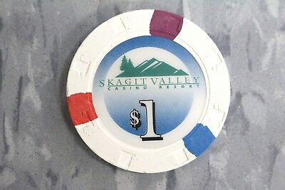 $1 Skagit Casino Resort , Wa... By Paulson .....Poker Chips