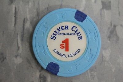 $1 Silver Club Hitel/Casino , Sparks , Nevada By Paulson .. Poker Chips