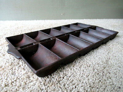 Antique Gem Muffin Pan NEW ENGLAND STYLE 950 Cast Iron 12 Cup 1890-1905 GRISWOLD
