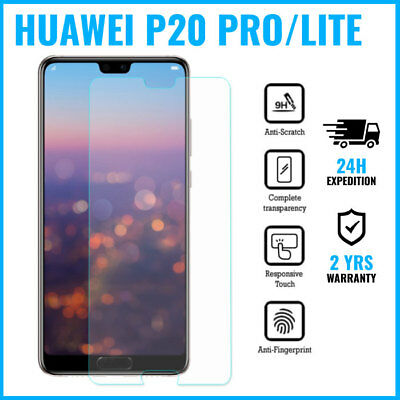 Screen Protector Protecteur 9H LCD Tempered Glass Film Huawei P20 Lite Pro Y7