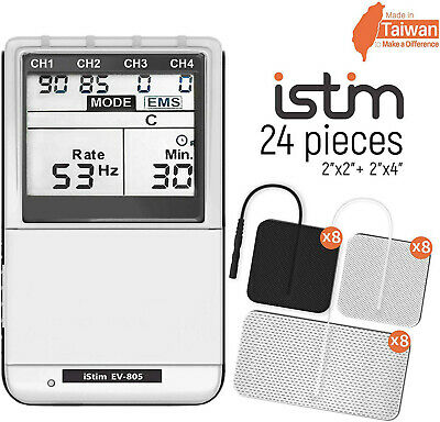 Istim EV-805 FDA 4 Channel Rechargeable electric therapy EMS Tens Combo Machine
