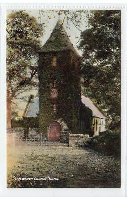 POLWORTH CHURCH, DUNS: Berwickshire postcard (C32014)