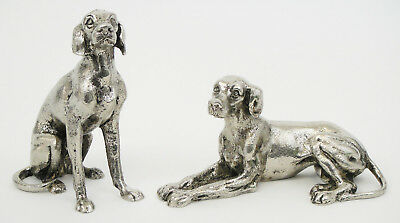 A pair of original Gucci metal silver plated dogs sculptures second half of XXth