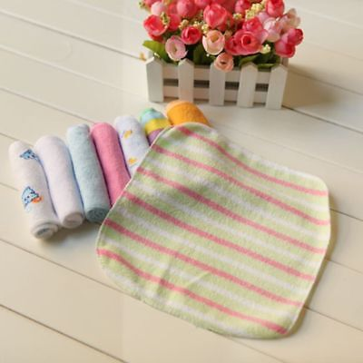 8pcs/Pack Cotton Bath Cloth Soft Newborn Baby Feeding Wipe Washcloth Towels