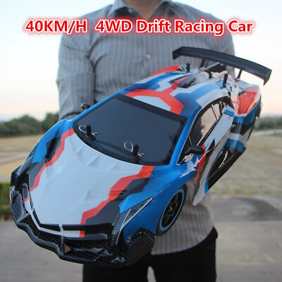 Large 1:10 RC Cars 4WD Shaft Drive 2.4GHz 40KM/H RC Car Toy With Remote Control