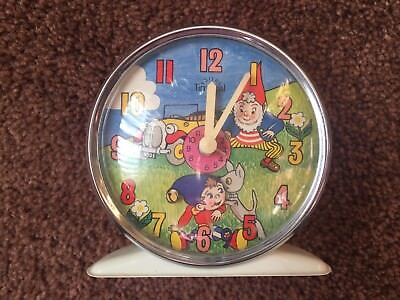 Vintage Metal Noddy & Big Ears Smiths Timecal Alarm Clock 1970s working