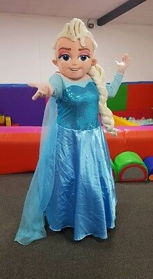 Used Frozen Elsa Mascot costume adult/ kids party function : frozen mascot costume  - Germanpascual.Com