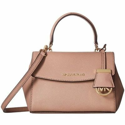 cd5f682892b4 Michael Kors Ava Satchel Mini Crossbody Saffiano Leather Fawn Pink