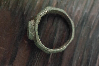 Ancient Roman Bronze Ring 200 - 400 AD Authentic Artifact Antique Jewelry