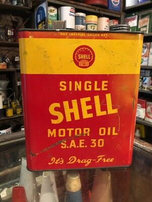 Shell Single 1950's Gallon Oil Can