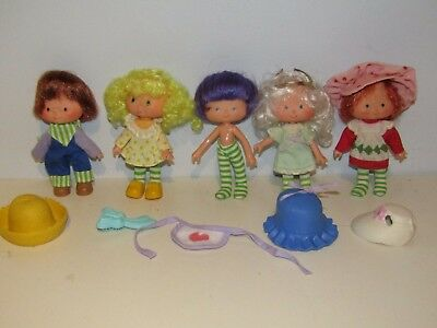 Lot of 5 Strawberry Shortcake With Some Accessories