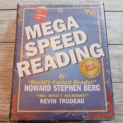 Mega speed reading howard stephen berg kevin trudeau 6 cassettesvhs mega speed reading course by howard berg vhs tapecassette tapes never used malvernweather Image collections