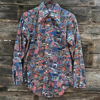 Now Breed By Campus Vintage Button Down Shirt Mens Size M Hippie