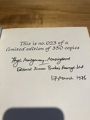 Burke's Irish Family Records Book-Signed No. 23 Of 350 Limited Edition 1976