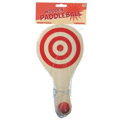 Holz Paddel Ball - 07736 Holz Padellball Traditionell Retro Klassiker Kinder