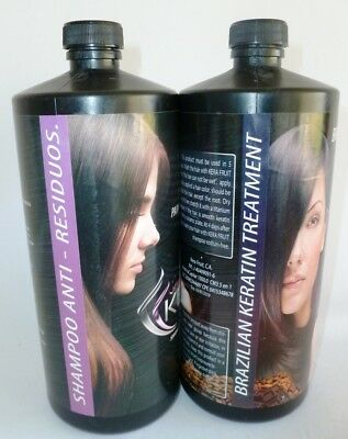 KERA FRUIT Brazilian Keratin Cocoa Treatment (Strong) + Shampoo Anti-Waste 32oz.