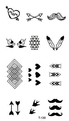 ab4006bf9deed US SELLER, FAKE tattoos stickers rose red heart temporary tattoo ...