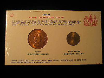 1964 Jersey Modern uncirculated type set