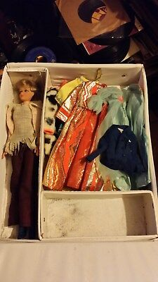 Vintage 1968 Barbie + 1958 Barbie Case & Clothes with Tags