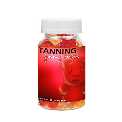 Tanning Gummy Bears Tan Gummies Sun Tablets Sweets Sun Beds Fake Spray Oil Beds