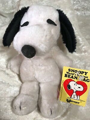 Vintage Butterfly Originals Snoopy Bean Bag Doll #30-8119