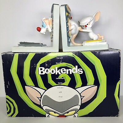 Pinky And The Brain Bookends Book Ends Animaniacs 90's Vintage Warner Bros Store
