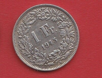 Switzerland 1 Francs 1945 Silver