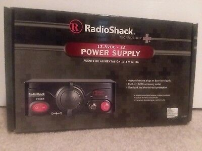 NEW ! Radio Shack Power Supply 3Amp 13.8VDC  # 22-507