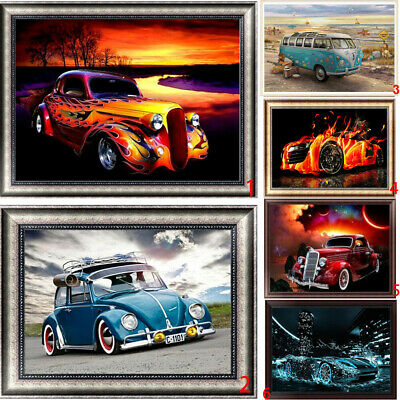 5D Diamond Painting Car DIY Embroidery Cross Crafts Stitch Kit Home Art Decor